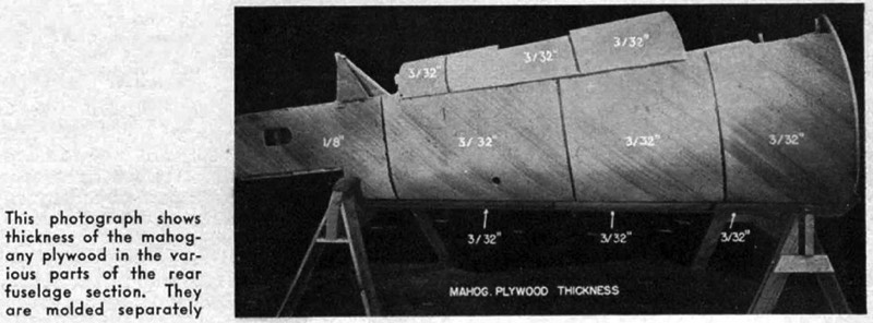 Plywood sections of T6