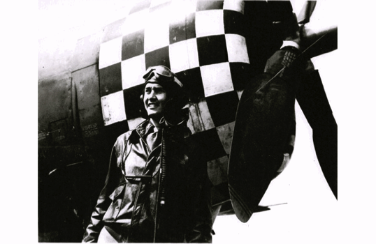 Huie Lamb with his P-47 Thunderbolt