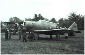 Harvard Mk1 in airfield