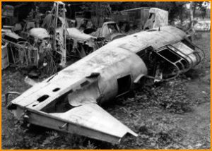 Tomcat derelict at La Ferte Alais in the 1970s